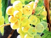 Golden Grapes, detail